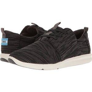 Toms Black Del Rey Woven Sneaker
